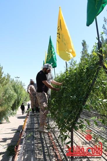 روستای جوادیه فلاح اولین میعادگاه کاروان شهدای غواص در رفسنجان