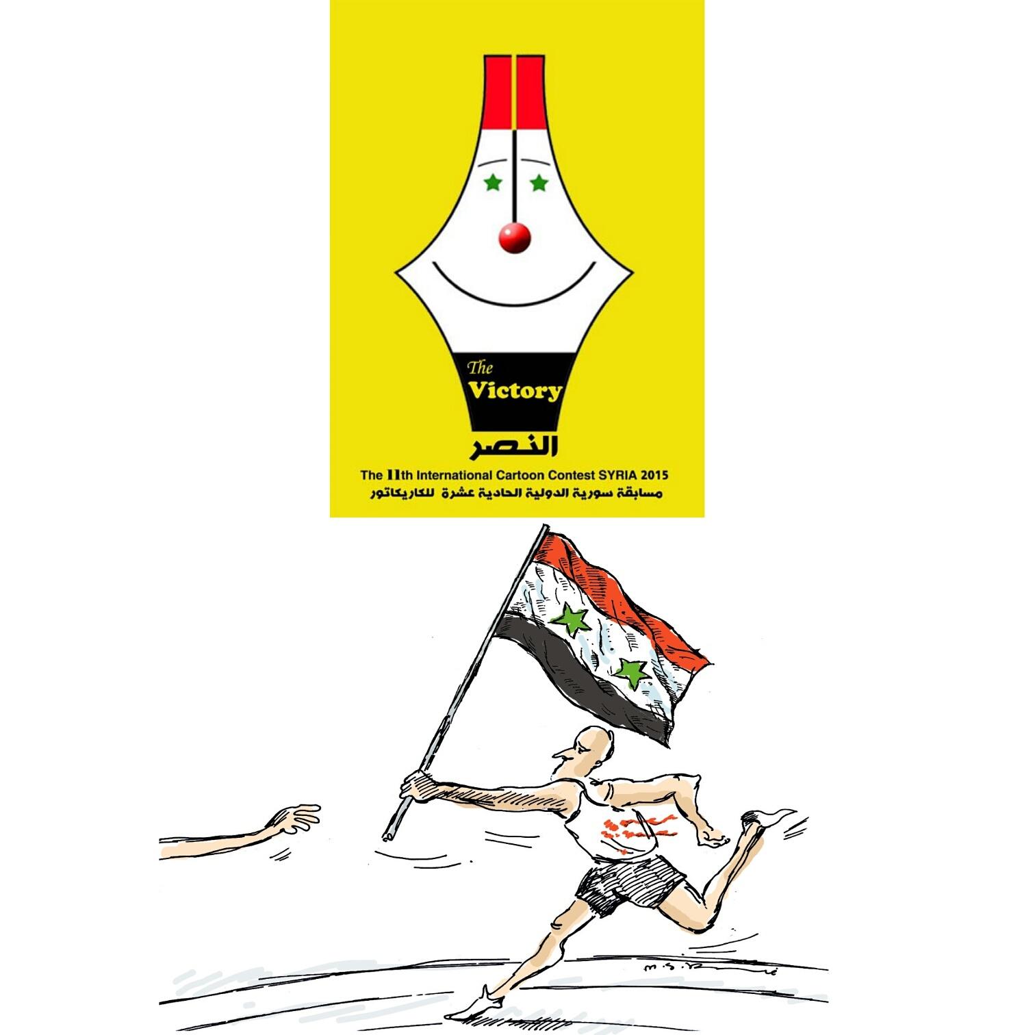 رتبه سوم جشنواره بینالمللی سوریه به کارتونیست کرمانی رسید