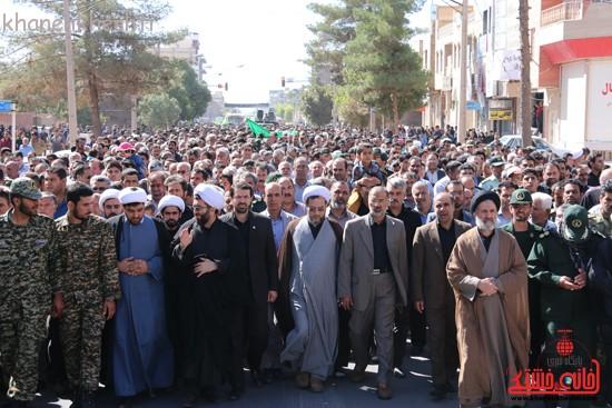 مراسم تشییع پیکر شهید اخوندی-رفسنجان-خانه خشتی (۲)