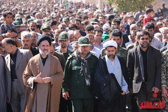 مراسم تشییع پیکر شهید اخوندی-رفسنجان-خانه خشتی (۵)