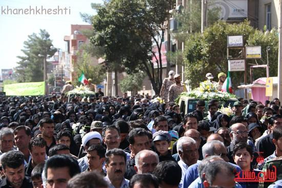 مراسم تشییع پیکر شهید اخوندی-رفسنجان-خانه خشتی (۶)