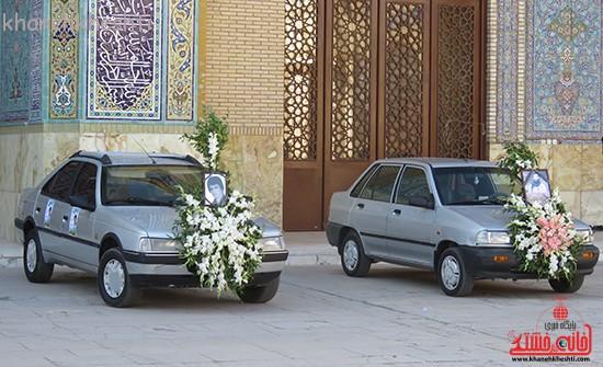 مراسم گرامیداشت شهیدان آخوندی و رحمانی در رفسنجان-خانه خشتی (۲)