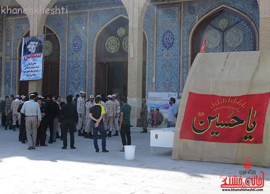 مراسم گرامیداشت شهیدان آخوندی و رحمانی در رفسنجان-خانه خشتی (۳)