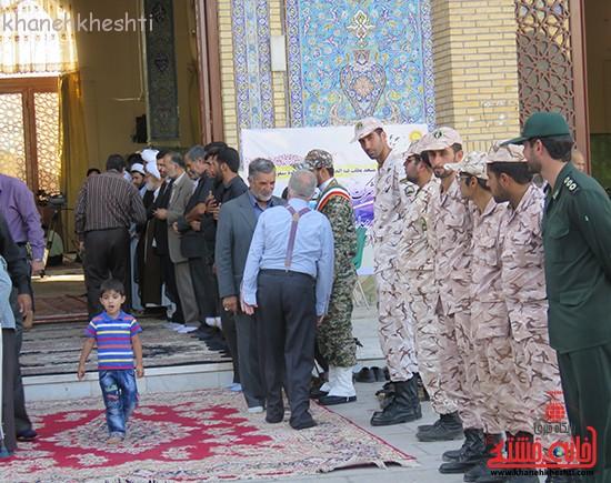 مراسم گرامیداشت شهیدان آخوندی و رحمانی در رفسنجان-خانه خشتی (۶)