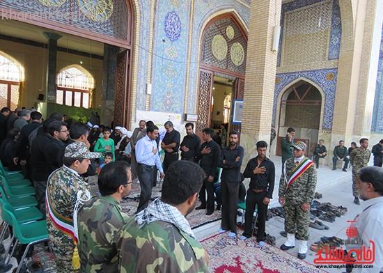 مراسم گرامیداشت شهیدان آخوندی و رحمانی در رفسنجان-خانه خشتی (۸)