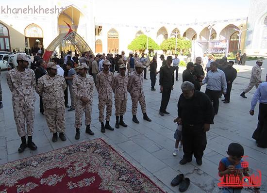 مراسم گرامیداشت شهیدان آخوندی و رحمانی در رفسنجان-خانه خشتی (۹)