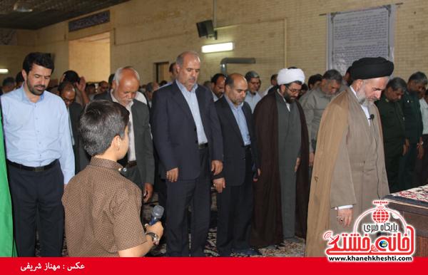 نماز وحدت با همدلی مسئولین رفسنجان اقامه شد + عکس