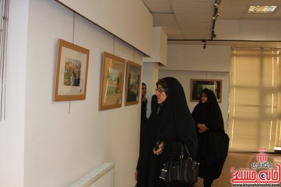 گالری نقاشی ابرنگ هنرمند رفسنجانی فهیمه پورامینایی (۲)