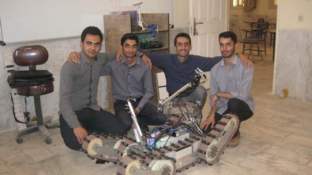 گروه رباتیک vru آموت نیاز به اسپانسر دارد