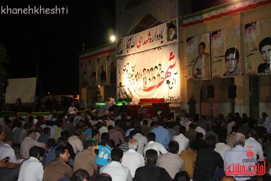 دوربین خانه خشتی در یادواره شهدای روستای الله آباد رفسنجان