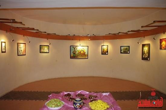 نمایشگاه نقاشی در رفسنجان دایر شد + عکس