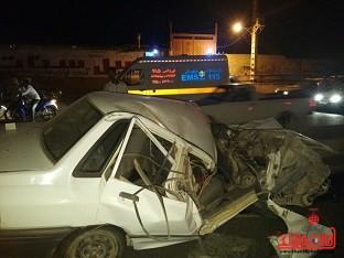 واژگونی پراید راننده را به کام مرگ برد + عکس