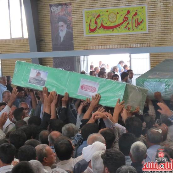 تشییع دوشهید مدافع حرم در رفسنجان-خانه خشتی (۹)