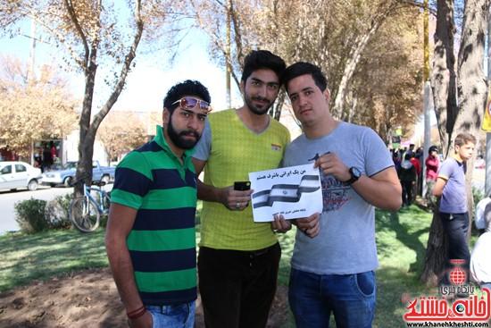 """مردم رفسنجان در کمپین """"من یک ایرانی باشرف هستم"""" / تصاویر"""