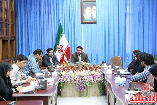 نشست فرماندار رفسنجان با خبرنگاران