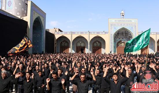ا از تجمع هیئت های عزاداری در مسجد جامع رفسنجان (۱۵)