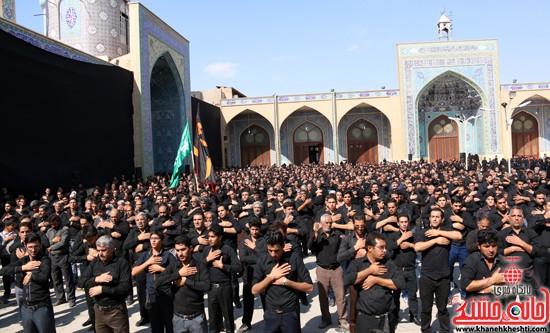 ا از تجمع هیئت های عزاداری در مسجد جامع رفسنجان (۱۷)