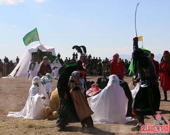 مراسم تعزیه خوانی در شهرک ناصریه رفسنجان برگزار می شود