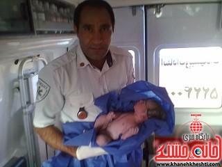 پنجمین زایمان آمبولانسی در یک ماه گذشته با موفقیت انجام شد