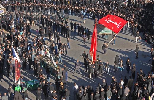 عزاداری هیئت های مذهبی رفسنجان در روز عاشورا / عکس