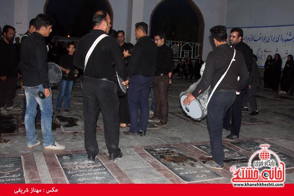 عزاداری سالار شهیدان در گلزار شهدا رفسنجان/ عکس