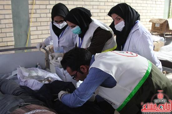 افتتاحیه بیمارستان صحرایی در رفسنجان-خانه خشتی (۱۲)