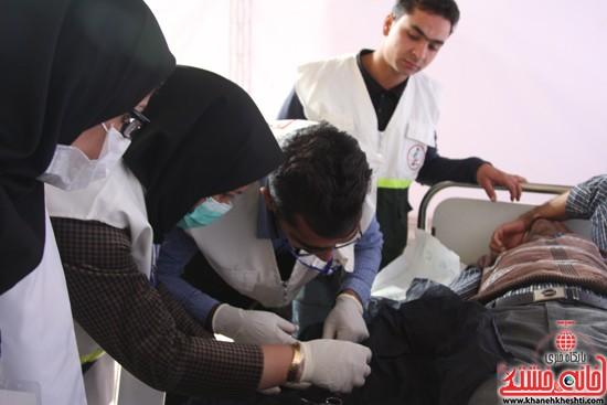 افتتاحیه بیمارستان صحرایی در رفسنجان-خانه خشتی (۱۳)