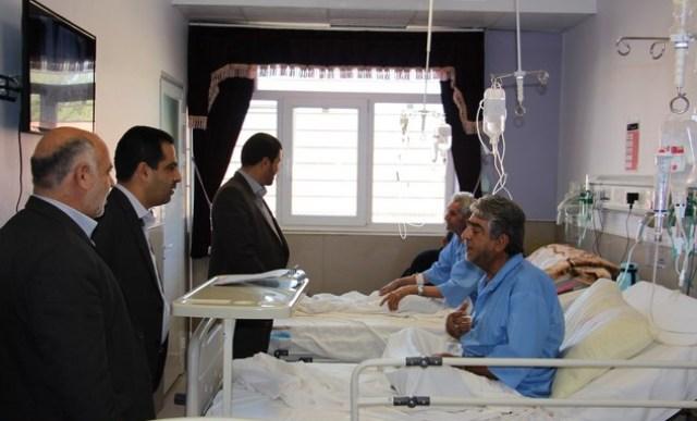 فرماندار رفسنجان به بیمارستان علی بن ابیطالب (ع) رفت