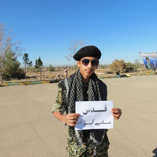 """تصاویر / بسیجیان رفسنجان در پویش """"قدس می آییم"""""""