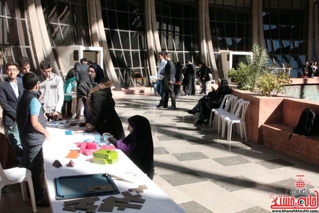 نمایشگاه «خلاقیت و ریاضی» رفسنجان به روایت تصویر