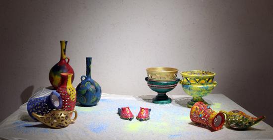 دوربین خانه خشتی در نمایشگاه نقاشی و سفال «از خاک تا نقش»