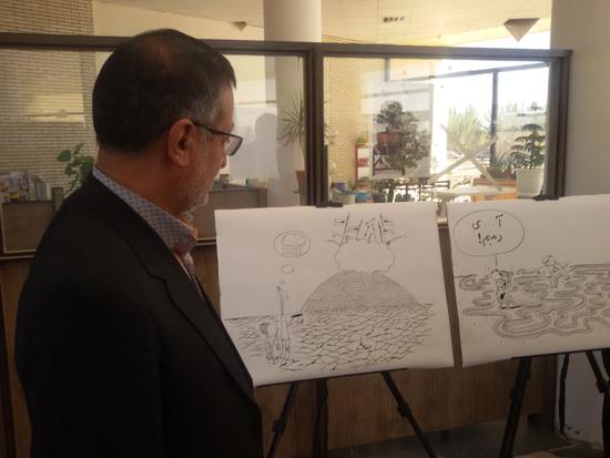 نمایشگاه یادبود مفاسد اقتصادی-دانشگاه ولی عصر رفسنجان-خانه خشتی (۳)