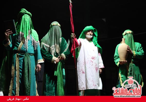 دوربین خانه خشتی در تعزیه خوانی هیئت متوسلین به حضرت علی اکبر (ع) رفسنجان