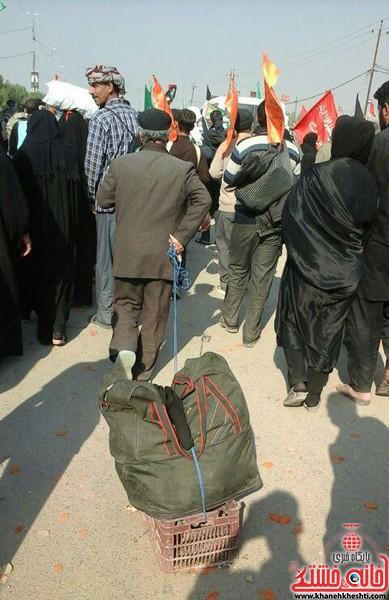 پیاده روی زائرین اربعین-خانه خشتی-رفسنجان (۱)