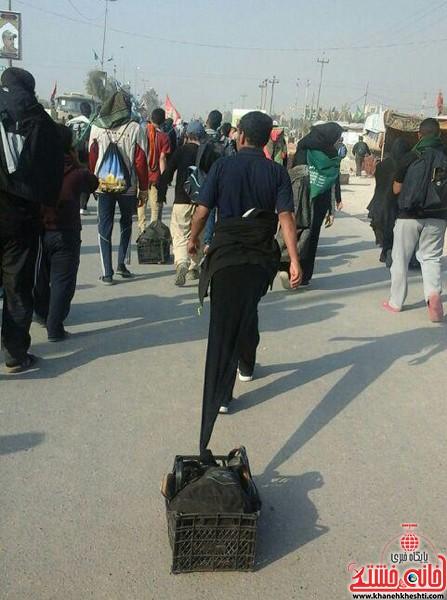 پیاده روی زائرین اربعین-خانه خشتی-رفسنجان (۲۱)