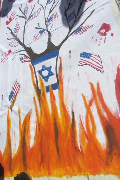 عاقبت آمریکا و اسرائیل از نگاه دبستانیهای رفسنجان / تصاویر