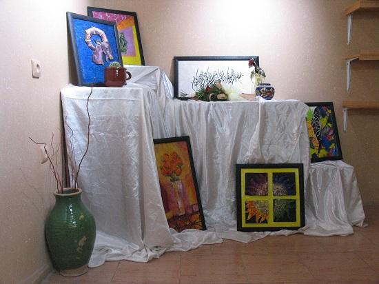 تصاویر نمایشگاه نقاشی در رفسنجان