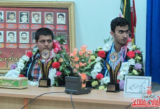 استقبال از برگزیده های جشنواره خوارزمی در رفسنجان (۳)