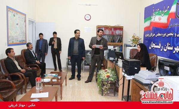 بازدید فرماندار از ستاد انتخابات-رفسنجان-خانه خشتی (۳)