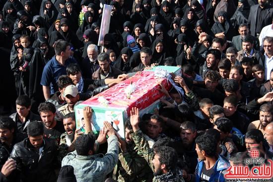 تشییع پیکر پاک شهید مدافع حرم رفسنجان (۱۲)