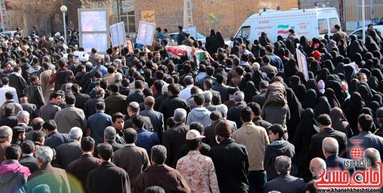 تشییع پیکر پاک شهید مدافع حرم رفسنجان (۱۳)