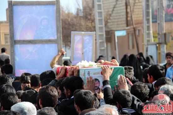 تشییع پیکر پاک شهید مدافع حرم رفسنجان (۱۵)