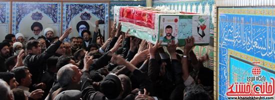 تشییع پیکر پاک شهید مدافع حرم رفسنجان (۴)