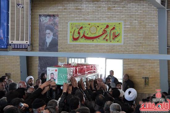 تشییع پیکر پاک شهید مدافع حرم رفسنجان (۶)