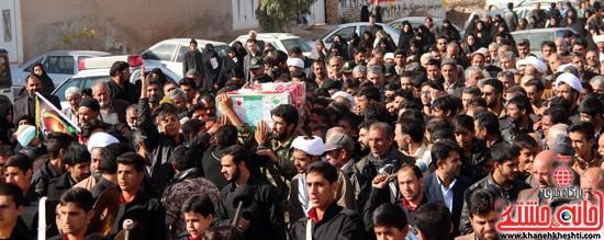 تشییع پیکر پاک شهید مدافع حرم رفسنجان (۸)