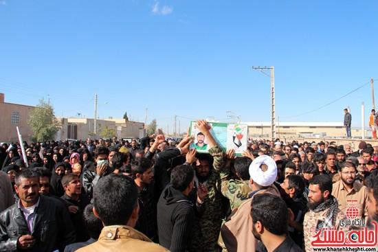 تشییع پیکر پاک شهید مدافع حرم رفسنجان (۹)