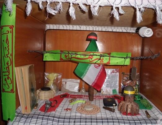 برپایی نمایشگاه بزرگ شهداء در اتاق کوچک نوجوان رفسنجانی / تصاویر