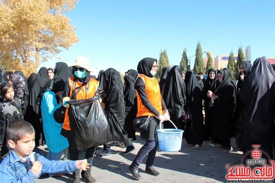 رفتگران طبیعت در پیاده روی اربعین حسینی رفسنجان (۴)