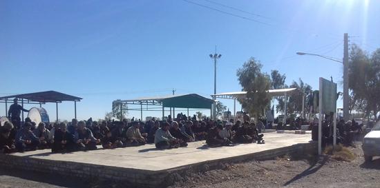 عزاداری و خواندن زیارت اربعین در گلزار شهداء احمدآباد دئفه کشکوئیه (۵)