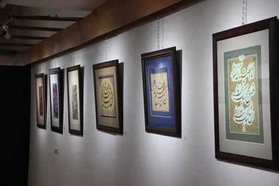 گزارش تصویری نمایشگاه آثار خوشنویسان ایران در رفسنجان